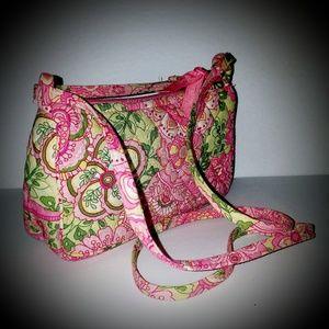 Vera Bradley petal pink cross body shoulder bag